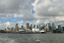 Downtown Vancouver from the ferry to Lonsdale Quay